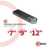tiendas radioshack tmemorias usb hasta 32 GB
