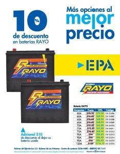 EPA Descuentos en las bateria para carros RAYO el salvador