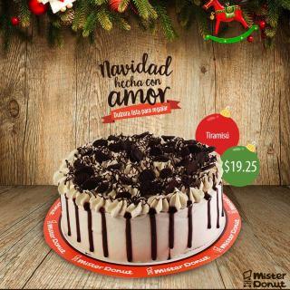 Mister Donut Postres de navidad TIRAMISU