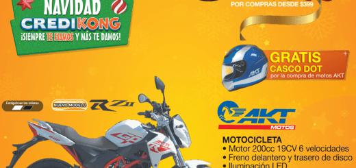 Ofertas y descuentos en motos AKT de almacenes tropigas diciembre 2017