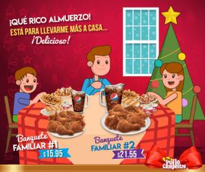 banquete familiar POLLO CAMPESTRE promocione navidad 2017