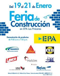Feria de Construccion ENERO 2018 Ferreteria epa el salvador