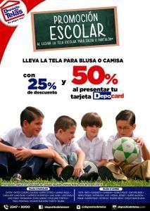 Promocion escolar en la compras DEPOSITO DE TELAS