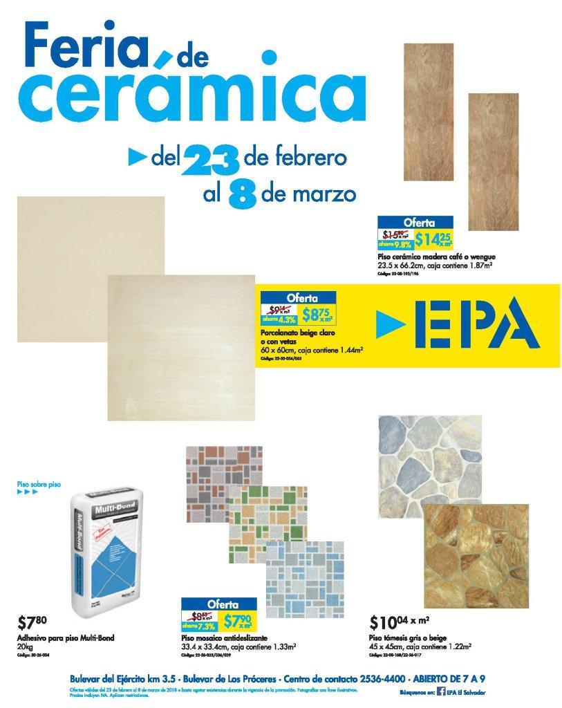 Feria de CEramica 2018 en ferreteria epa febrero 2018