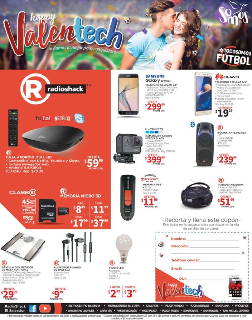 Happy VALENTINE technology deals radioshack SV