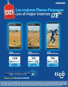 Los celulares samsung para disfrutar de internet TIGO LTE