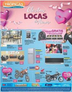 Ofertas locas de amor de almacenes tropigas febrero 2018