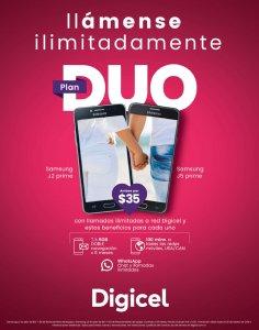 Promocion de san valentin DUO de telefonos DIGICEL el salvador