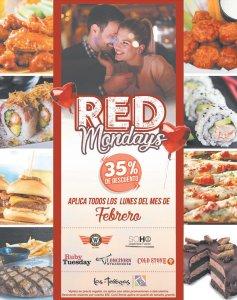RED mondays promotions en restaurantes de las terrazas