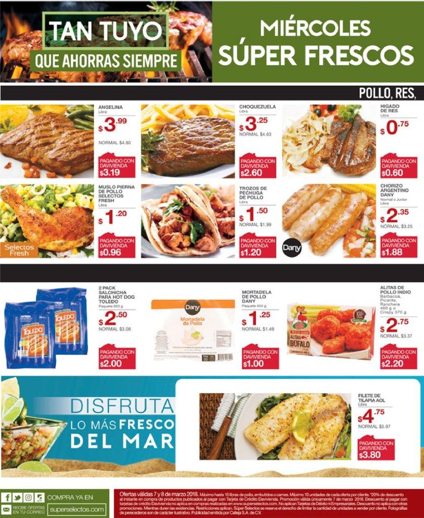 Cuales son las ofertas de los super miercoles frescos - 07mar18
