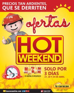 FIN del verano 2018 con HOT WEEKEND de la curacao