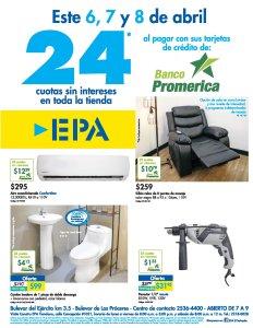 Ferreteria EPA fin de semana con TASA CerO gracias banco promerica