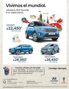HYUNDAI suv series autos patrocinador oficial rusia 2018