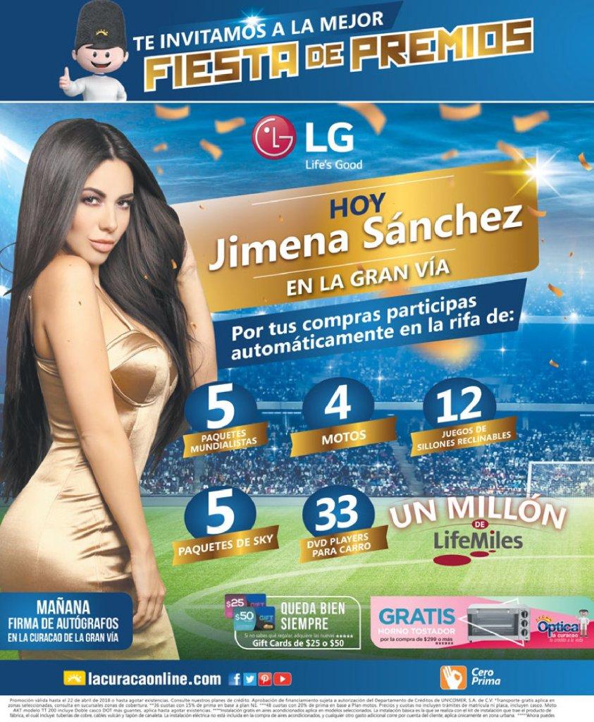 Jimena Sanchez AHORA en La CUracao la gran via