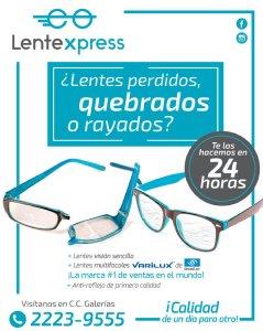 LenteXpress el salvador servicios de anteojos galerias