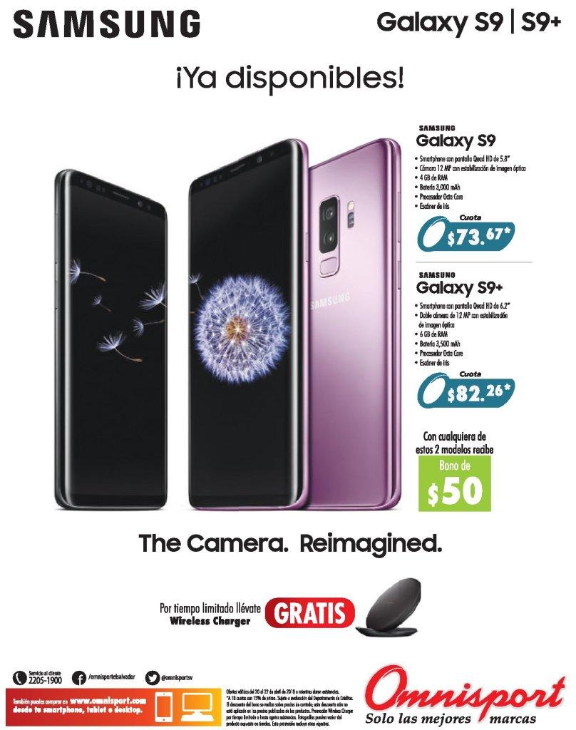 SAMSUNG Galaxy S9 disponible en omnisport el salvador