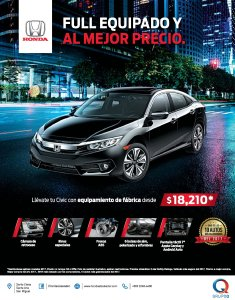 Sedan HONDA CIVIC 2017 con full extras disponible para ti