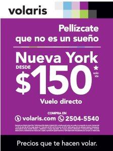 Vuelos BARATOS de VOLARIS Nueva York por 150 dolares