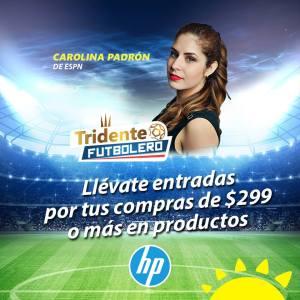 Carolina PADRON de ESPN en el salvador gracias a la curacao