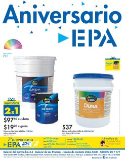 Cubetas de pintura en ferreteria EPA con oferta