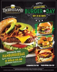 HAPPY international BURGER DAY today 28 mayo