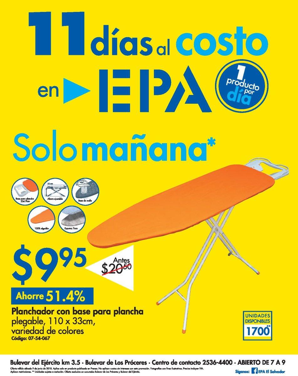 Promocion 11 dias al costo - Ferreteria EPA sv - Junio 2018