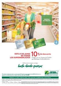 AHORA miercoles 10 OFF en todos los supermercados - 27jun18