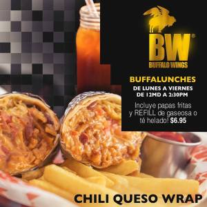 Buffalo Wings - CHILI QUESO WRAP - Lunch Rusia 2018