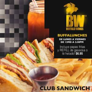 Buffalo Wings - CLUB SANDWICH - Lunch Rusia 2018