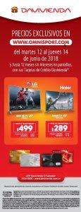 Promociones de televisores en omnisport para ver el mundial
