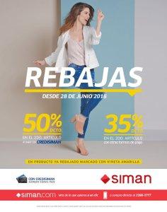 SIMAN HOY comienzan las rebajas de fin de mes JUNIO 2018
