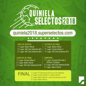 premios de la quiniela super selectos rusia 2018