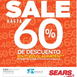 ATENCION sale con hasta 60 off en descuento SEARS