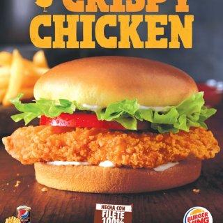 Burger King nueva CRISPY CHICKEN filete de pollo sazonado