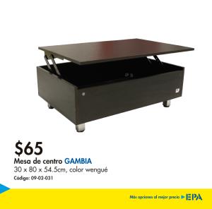 Muebles EPA - mesa de centro GAMBIA