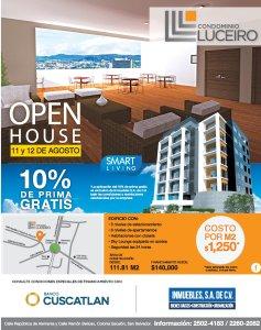 OPEN HOUSE apartment el salvador Condominio Luceiro Agosto 2018