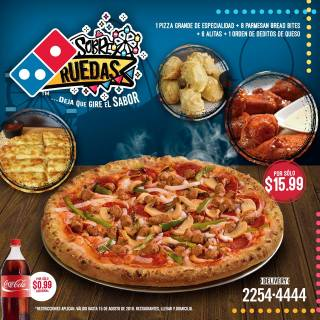combo familiar dominos pizza el salvador agosto 2018