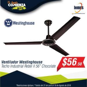 ofertas ventiladores westinghouse en lemus construccion