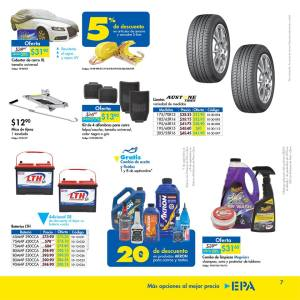 Accesorios y consumibles para ti carro septiembre 2018 EPA