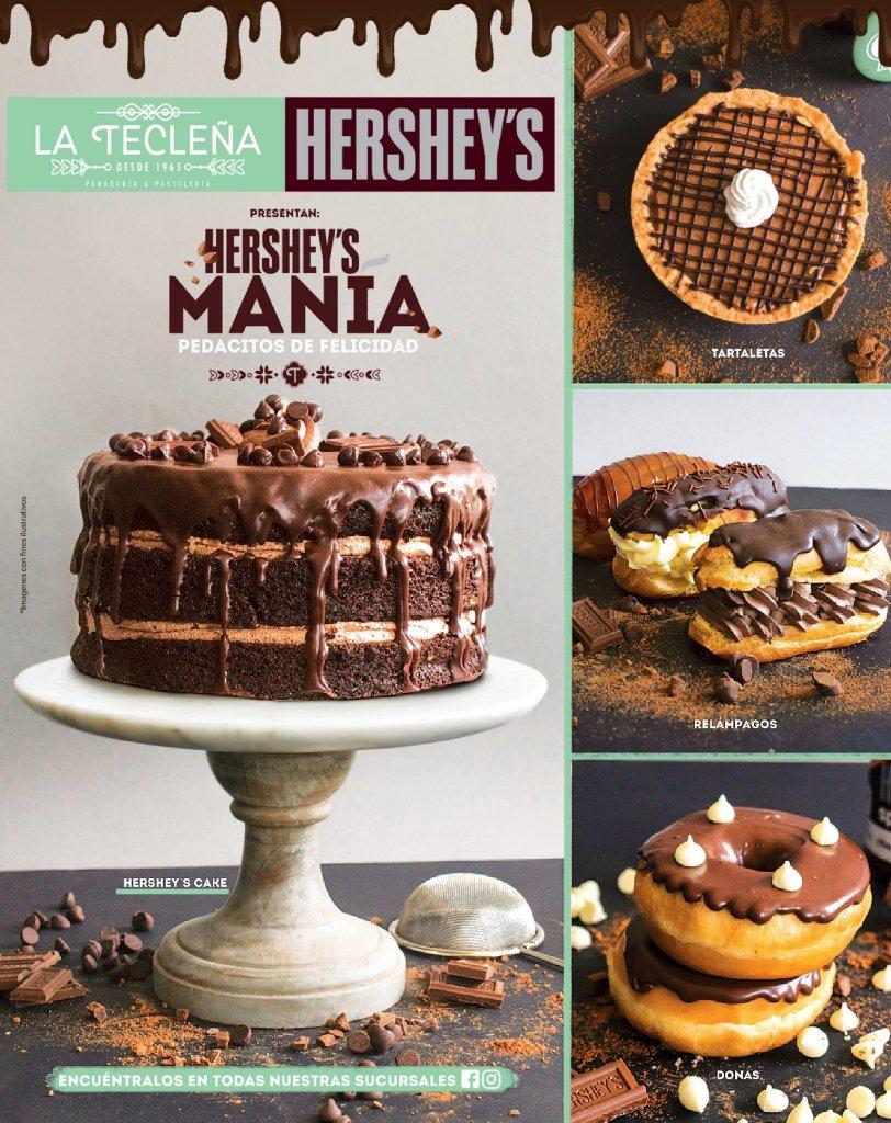 Catalogo de especiliadades de chocola HERSHEYS y La Tecleña