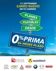 Compra carro nuevo de agencia en septiembre EXCeL automotriz