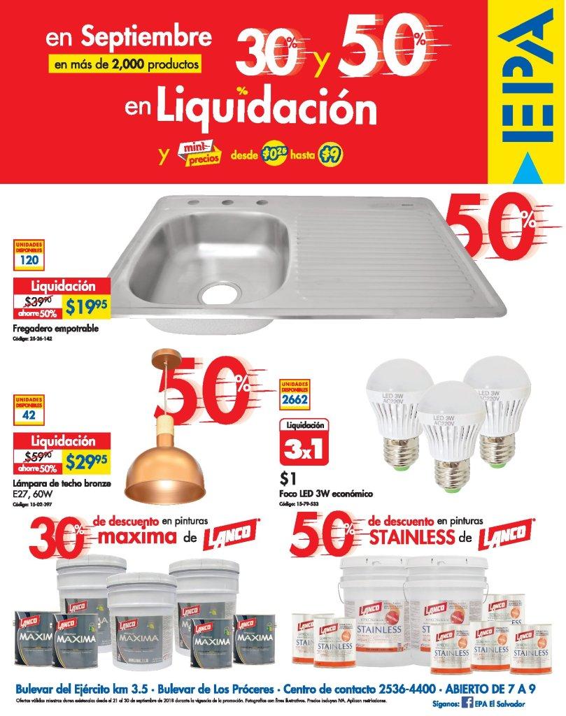 Continuan los productos en liquidacion EPA sv 21sep18