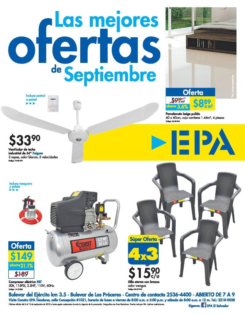 EPA MAS super ofertas de septiembre 2018