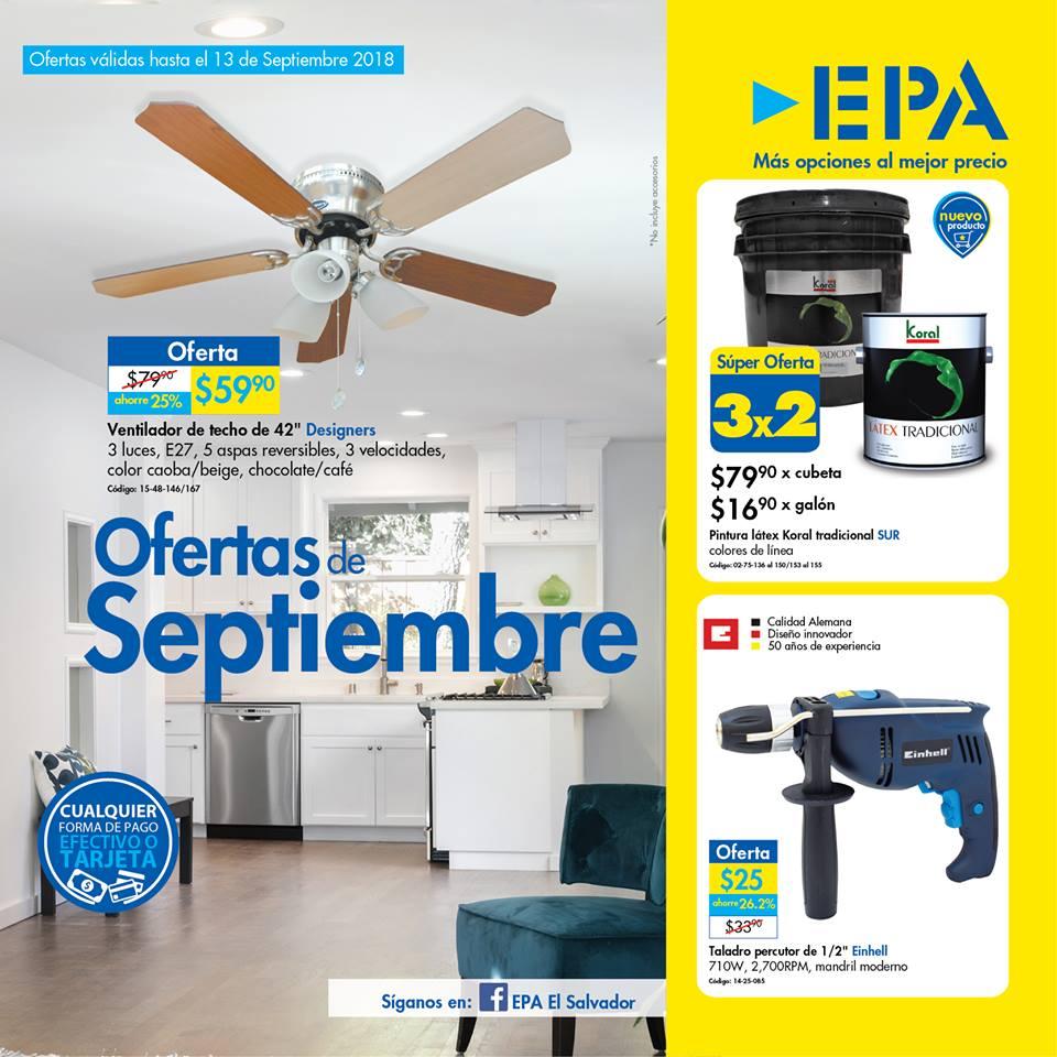 Ferreteria EPA Folleto de ofertas de septiembre 2018