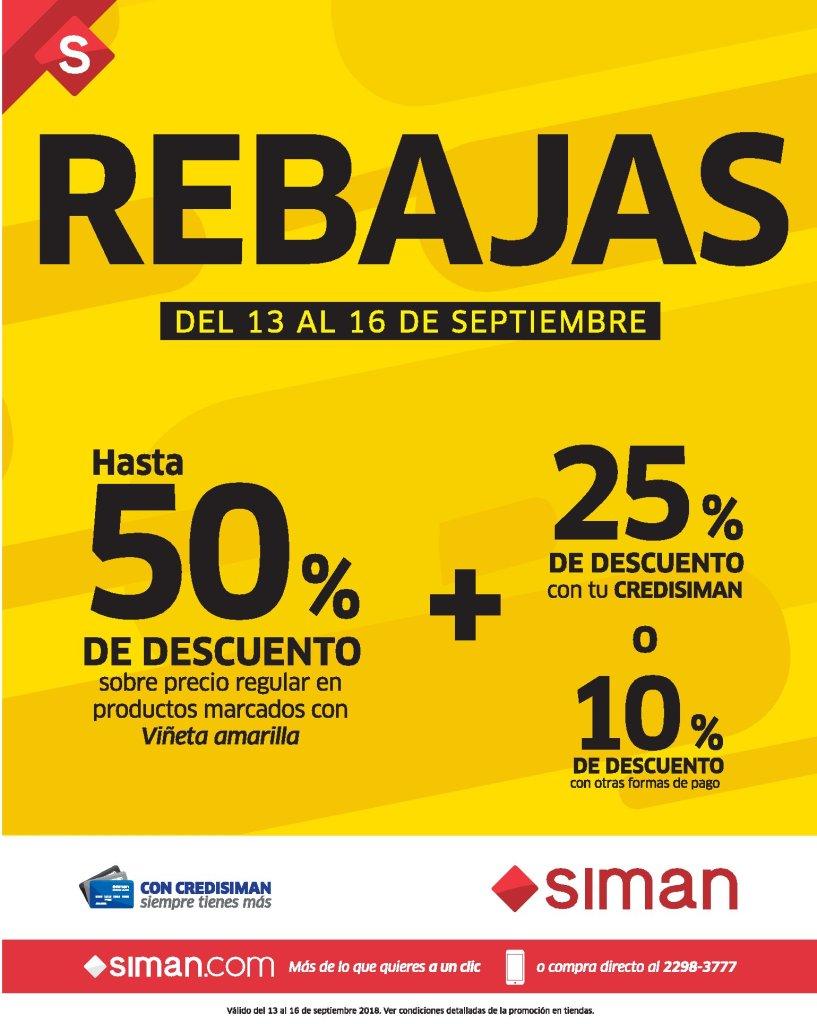 SIMAN sv Llegaron las REBAJAS de septiembre 2018