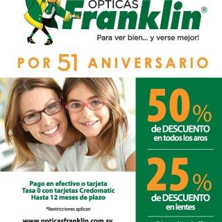 Opticas Franklin el salvador DESCUENtOS por aniversario 2018