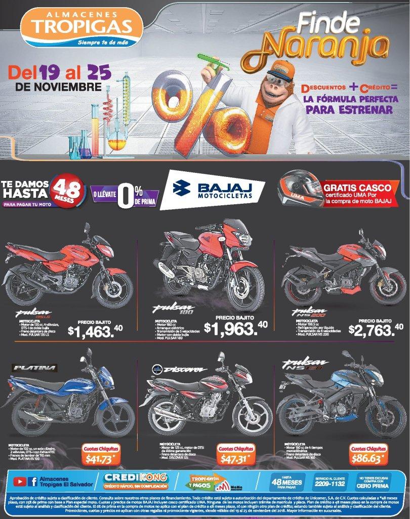 Almacenes Tropigas Black Friday 2018 motocicletas