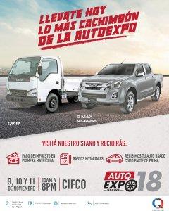 Camiones y pickups ISUZU en auto expo 2018 cIFCO