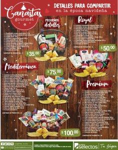 Canasta GOURMET super selectos navidad 2018