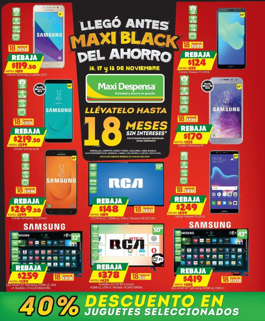Maxi Despensa ofertas BLACK FRIDAY 2018 ahorro maxi